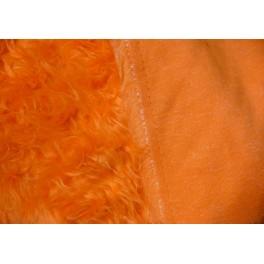 tissu fausse fourrure synth tique poils longs frise orange. Black Bedroom Furniture Sets. Home Design Ideas