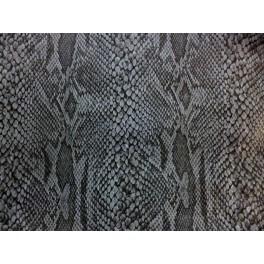 Tissu Imperm 201 Able Imprime Serpent Gris A0002