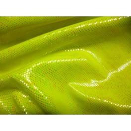 Tissu Lycra Spectacle Lezard Vert Jaune Fluo A0017