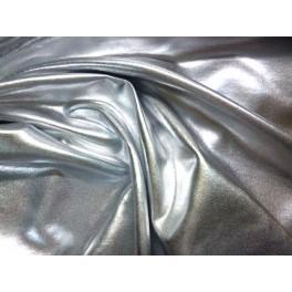 Tissu Jersey Brillant Gris Argente A0024