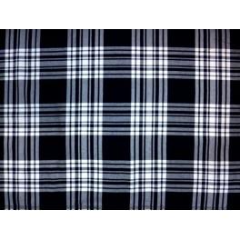 tissu cossais blanc et bleu marine a0015. Black Bedroom Furniture Sets. Home Design Ideas