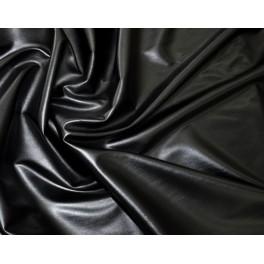 tissu simili cuir souple noir extensible a0048. Black Bedroom Furniture Sets. Home Design Ideas