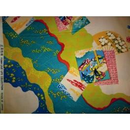 TISSU JAPONAIS PEINTURE DE FILLES JAPONAIS A0008
