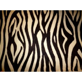 tissu ameublement z bre marron fond blanc casse a0018. Black Bedroom Furniture Sets. Home Design Ideas