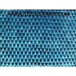 Tissu velours de laine bleu a0007 - Velours de laine ameublement ...